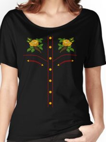 Texas Rose Western Style T-Shirt Women's Relaxed Fit T-Shirt