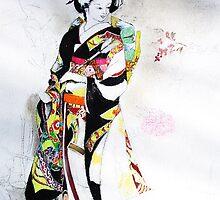 A Little more Color and Minerals to a Kimono by David M Scott