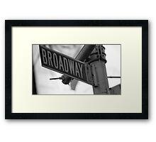 Broadway.: Framed Print
