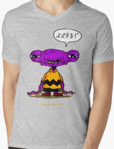 Alien Brown Mens V-Neck T-Shirt