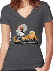 It's Raining Game in SF Women's Fitted V-Neck T-Shirt