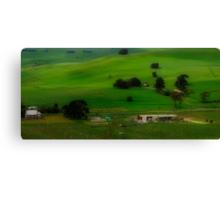 A Church, A Winery, A House, A Hill and A Few Cows Canvas Print