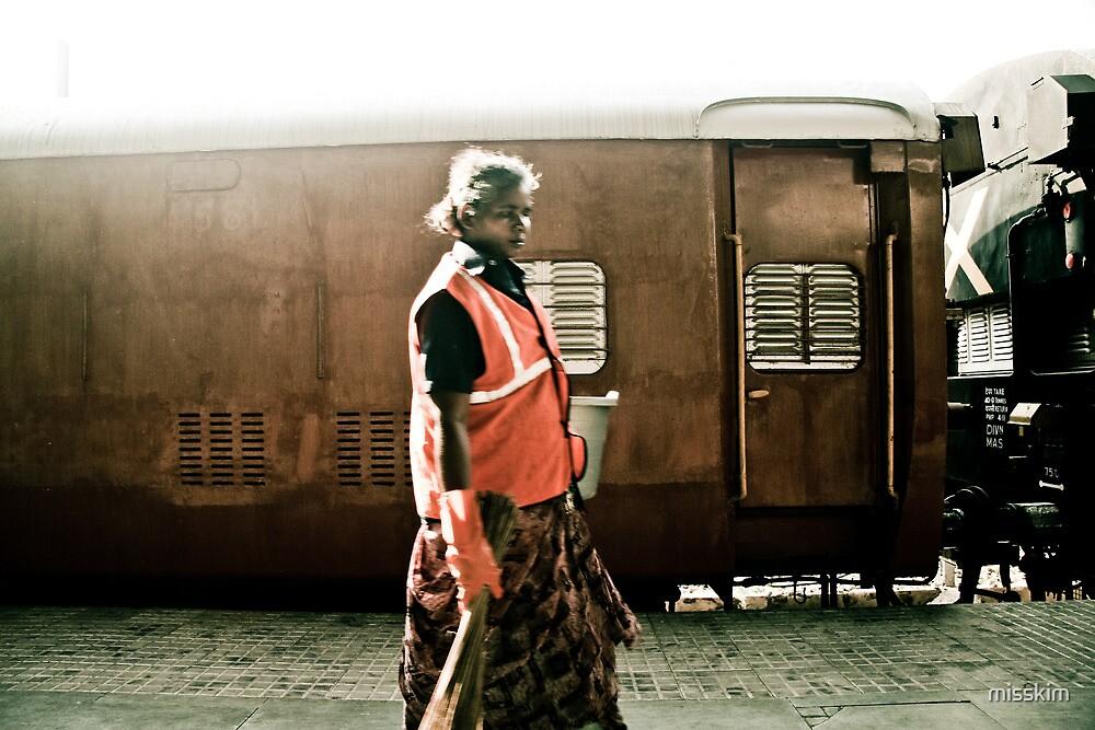 Women security guard, Mumbai, India by misskim