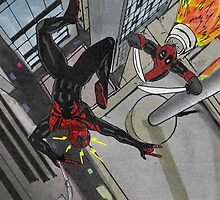 superior spiderman v deadpool by return-hangar