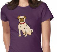 Zali Pug Womens Fitted T-Shirt