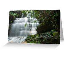 Cascading Water at Junction Falls Greeting Card