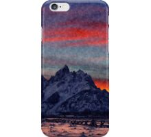 Mountain Red iPhone Case/Skin