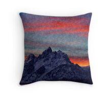 Mountain Red Throw Pillow