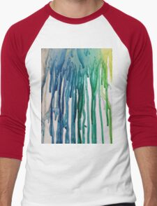 turquoise rain Men's Baseball ¾ T-Shirt