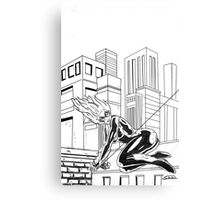 black cat felecia hardy Canvas Print