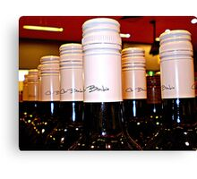 *Red Wine Tops in BottleShop at  Supermarket* Canvas Print