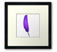 blue feather Framed Print