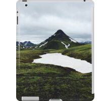 Green mountains of Iceland iPad Case/Skin