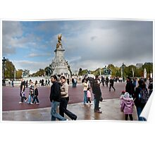 Queen Victoria Memorial: Buckingham Palace, London, UK. Poster