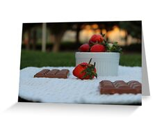 Delicious combination Greeting Card