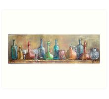 Coloured glass reflecting the world Art Print