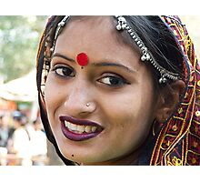 An Indian Woman Photographic Print