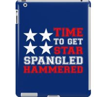 Star spangled hammered geek funny nerd iPad Case/Skin