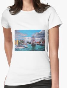 Bristol Harbour #1 Womens Fitted T-Shirt