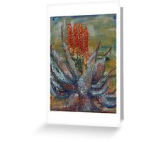 Aloes - a flame of red  Greeting Card