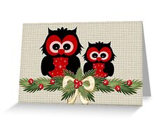Owls December Greeting Card