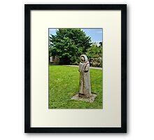 Cistercian Monk Sculpture Framed Print