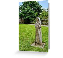 Cistercian Monk Sculpture Greeting Card