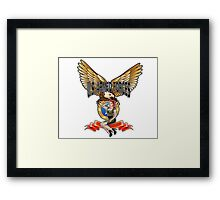 U.S. Armed Forces - The Lethal Threat with Pin Up Girl Framed Print