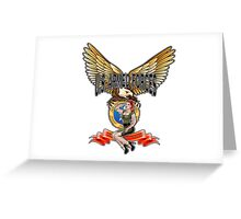 U.S. Armed Forces - The Lethal Threat with Pin Up Girl Greeting Card