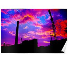 industry sunset Poster
