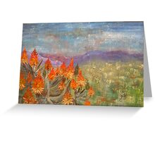 Flames of red in the midst of green Greeting Card
