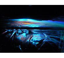 ICE BLUE SUNSET Photographic Print