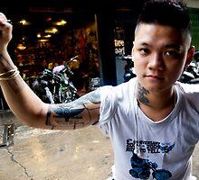 Vietnamese Motorbike Rider by Sergey Kahn