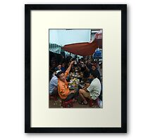 Daytime Drinking in Saigon Framed Print