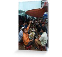 Daytime Drinking in Saigon Greeting Card
