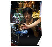 Making Tea in Ben Thanh Market Poster
