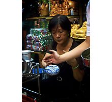 Making Tea in Ben Thanh Market Photographic Print