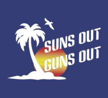 Suns out guns out geek funny nerd by antoharjo