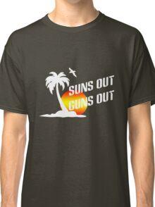 Suns out guns out geek funny nerd Classic T-Shirt