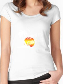 Suns out guns out geek funny nerd Women's Fitted Scoop T-Shirt