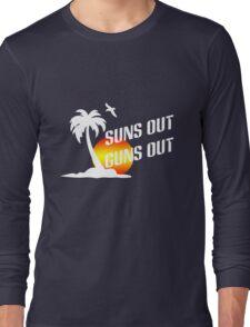 Suns out guns out geek funny nerd Long Sleeve T-Shirt