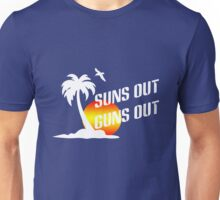 Suns out guns out geek funny nerd Unisex T-Shirt