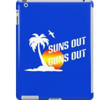 Suns out guns out geek funny nerd iPad Case/Skin