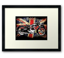Vintage Classic British BSA Motorcycle Icon Framed Print