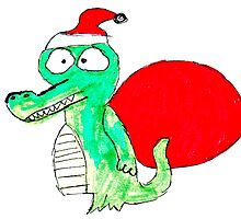 Crocodile Santa by Henbury School