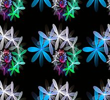 Flowers in a Spin - repeat pattern by Pam Amos