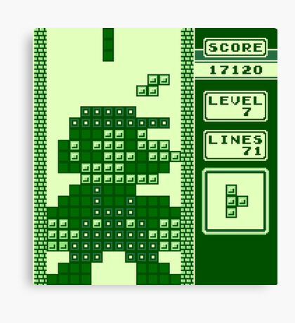 Tetris Bros. Canvas Print