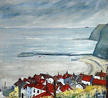 Looking Down Church Street, Staithes by Sue Nichol