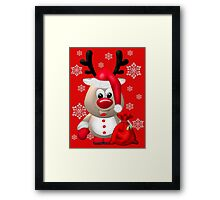 Red Nose Reindeer  Framed Print