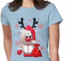 Red Nose Reindeer  Womens Fitted T-Shirt